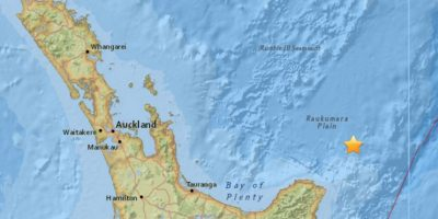 El terremoto ocurrió a 105 millas de Gisborne. Foto:USGS