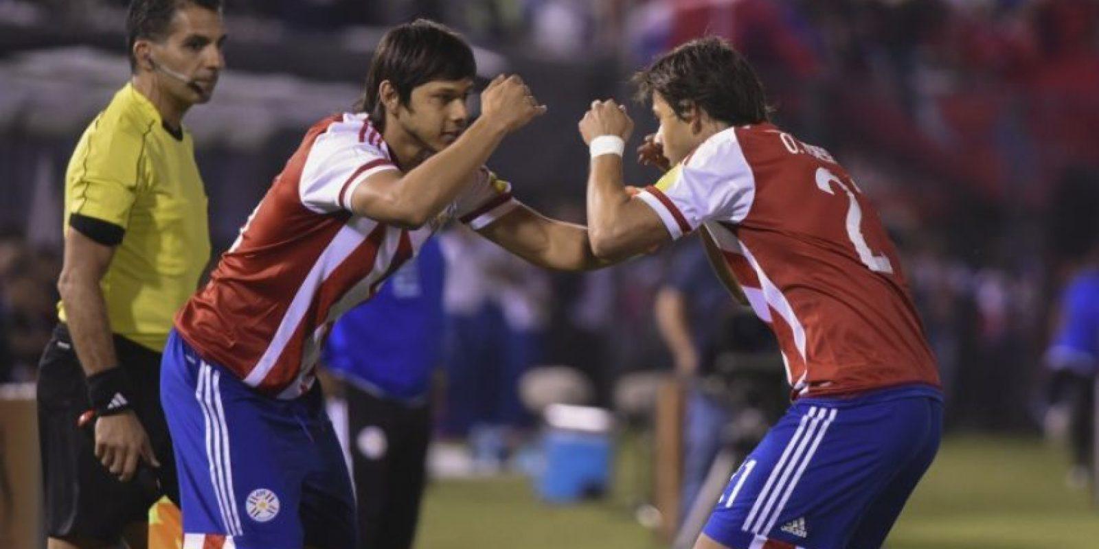 """El festejo de """"Los hermanos Korioto guaraníes"""" se hizo viral Foto:AFP"""