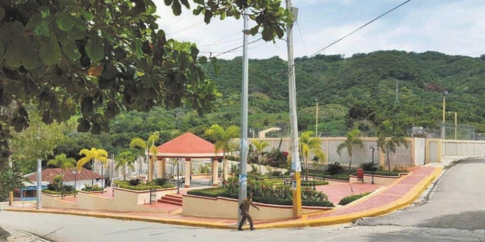 Parque construido en el centro del pueblo. Foto:Ellizabeth Martínez