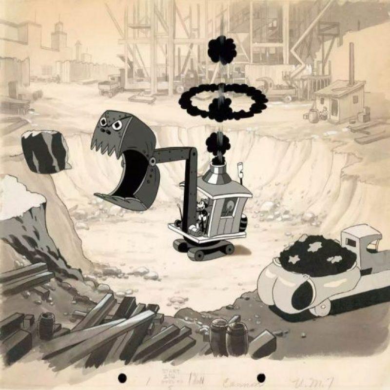 """Mickey en un trozo de animación para el corto animado """"Construyendo una Construcción"""" de 1933. Foto:Taschen/Disney"""