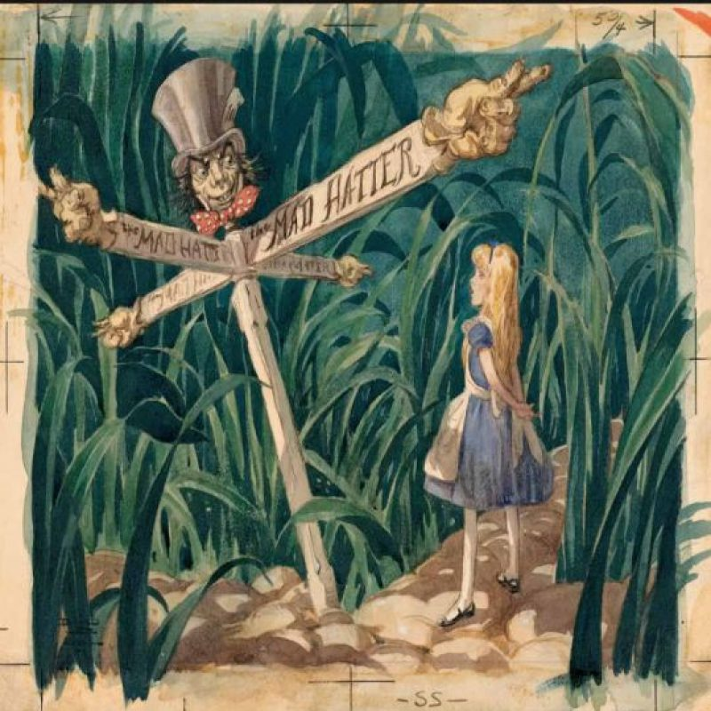 """Una escena nunca antes vista de """"Alicia en el País de las Maravillas"""" de 1951. Foto:Taschen/Disney"""