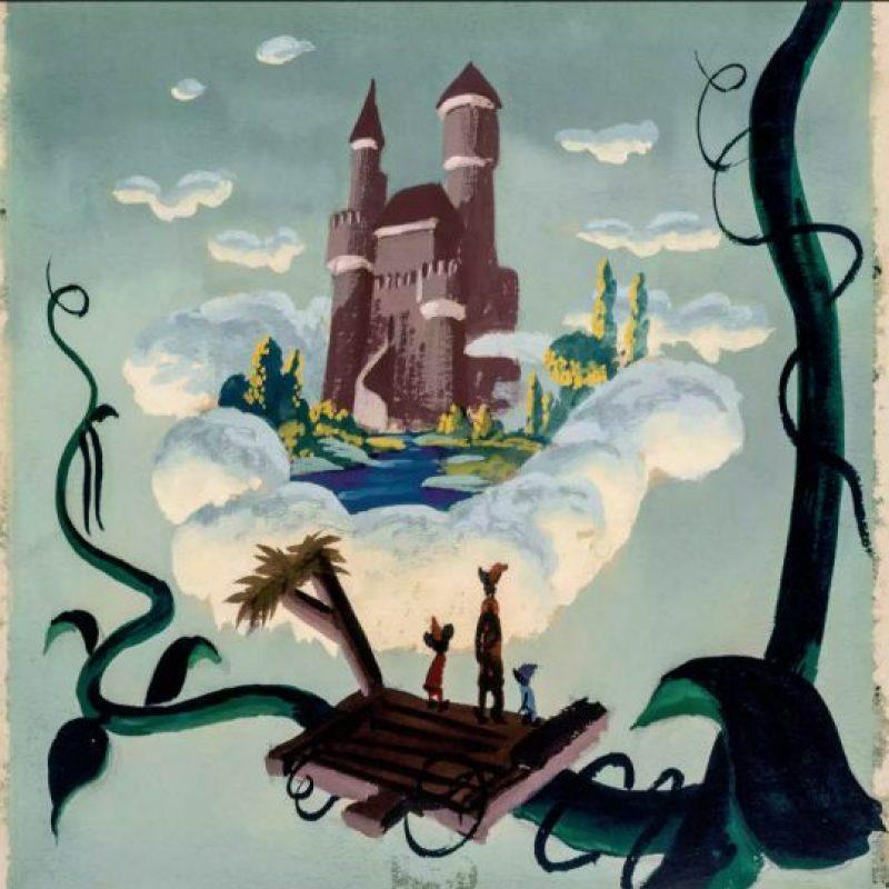 """Mickey, Goofy y Donald en un pintura para """"Fun, Fantacy Free"""" de 1940. La historia era """"Jack y las habichuelas"""". Foto:Taschen/Disney"""