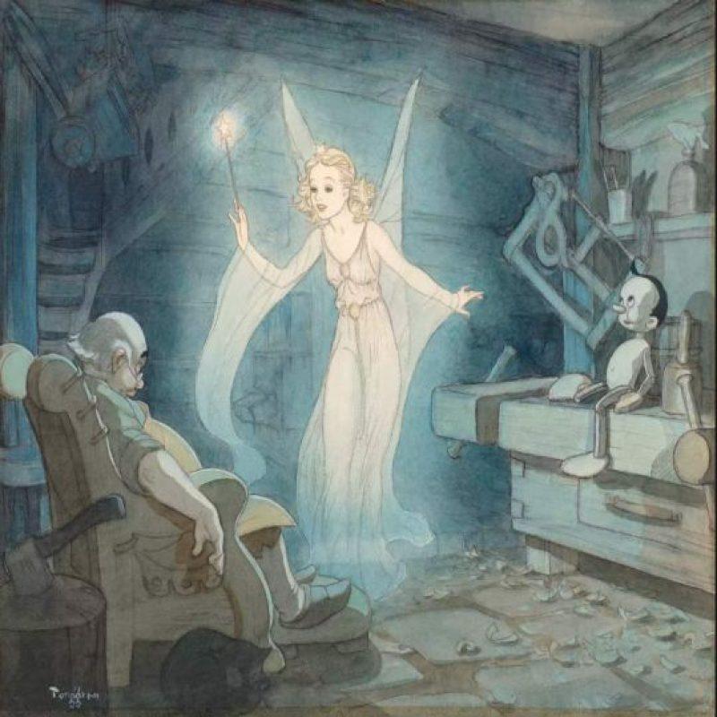 """Ilustración del hada azul en """"Pinocho"""" de 1940. Foto:Taschen/Disney"""