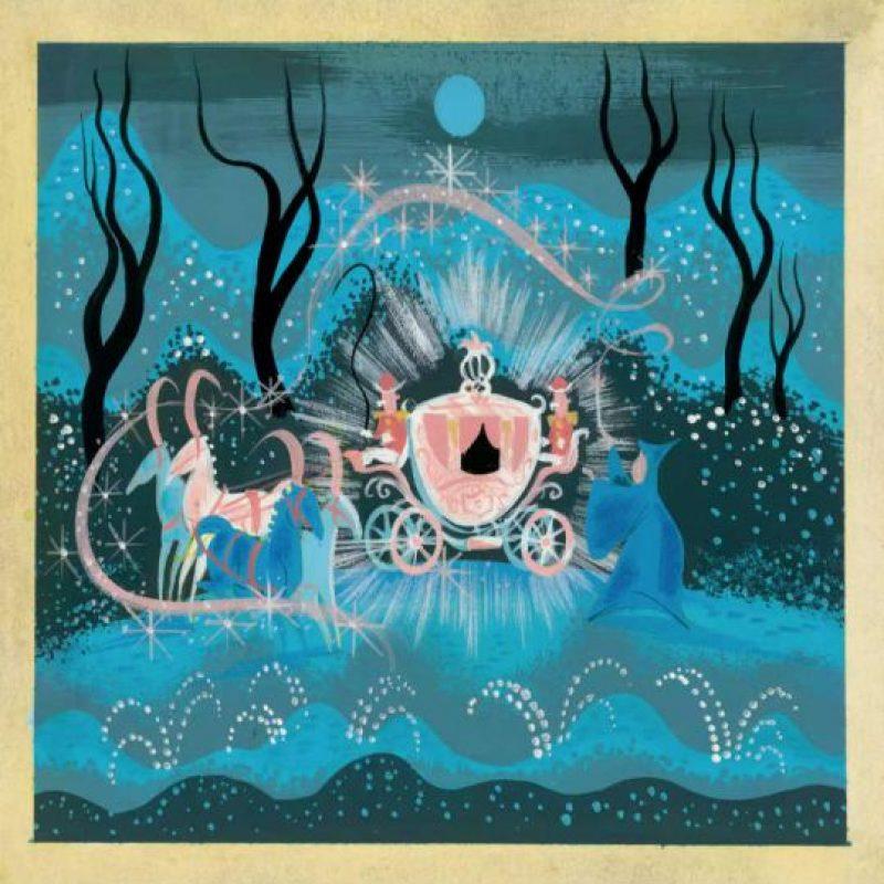 """Arte conceptual para """"La Cenicienta"""" de 1950. Foto:Taschen/Disney"""