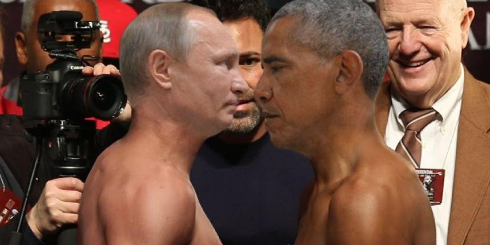 Hubo quienes los imaginaron como boxeadores en el pesaje Foto:Imgur