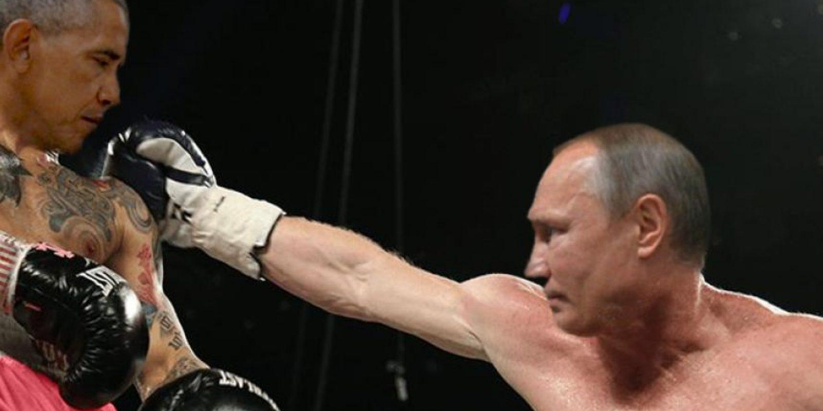 Y también en el ring Foto:Imgur