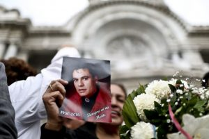 México despide a Juan Gabriel en el Palacio de Bellas Artes Foto:AFP