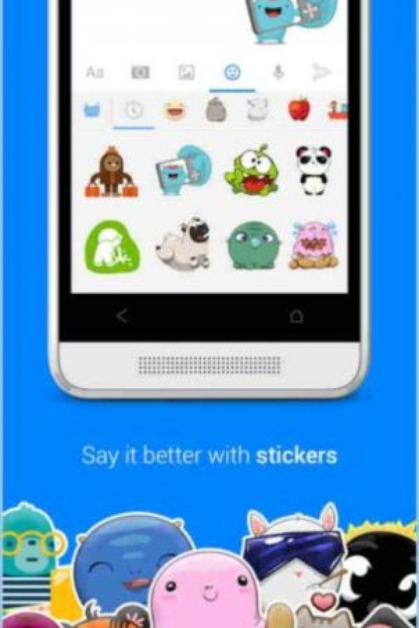 Y los stickers en la app oficial. Foto:Facebook