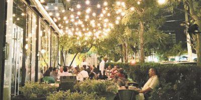 3 restaurantes para comer en un jardín