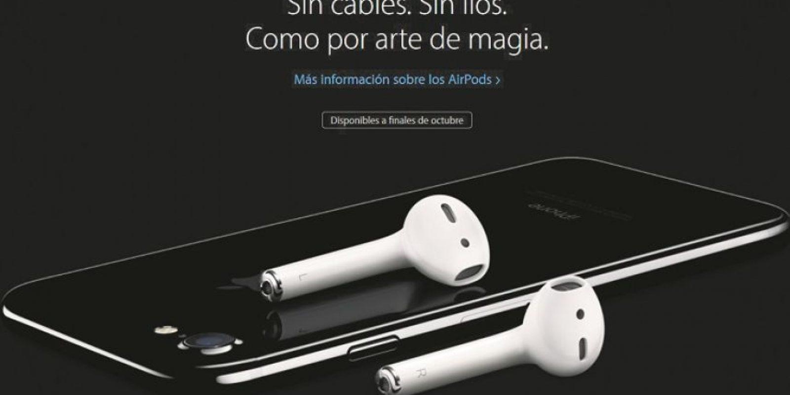 """Los auriculares sin cable """"AirPod"""" es otra de las grandes revoluciones de Apple presentadas ayer. Foto: efe"""