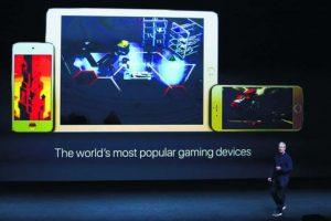El presidente de Apple, Tim Cook durante la presentación de los nuevos productos de la compañía.