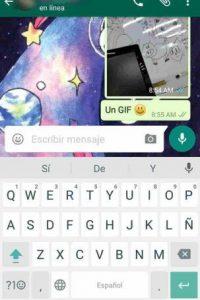 WhatsApp Foto:Por si no lo sabían, WhatsApp permite enviar GIF's