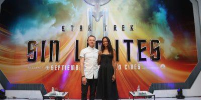Zoe Saldaña y Simon Pegg: Mismo universo, mundos diferentes