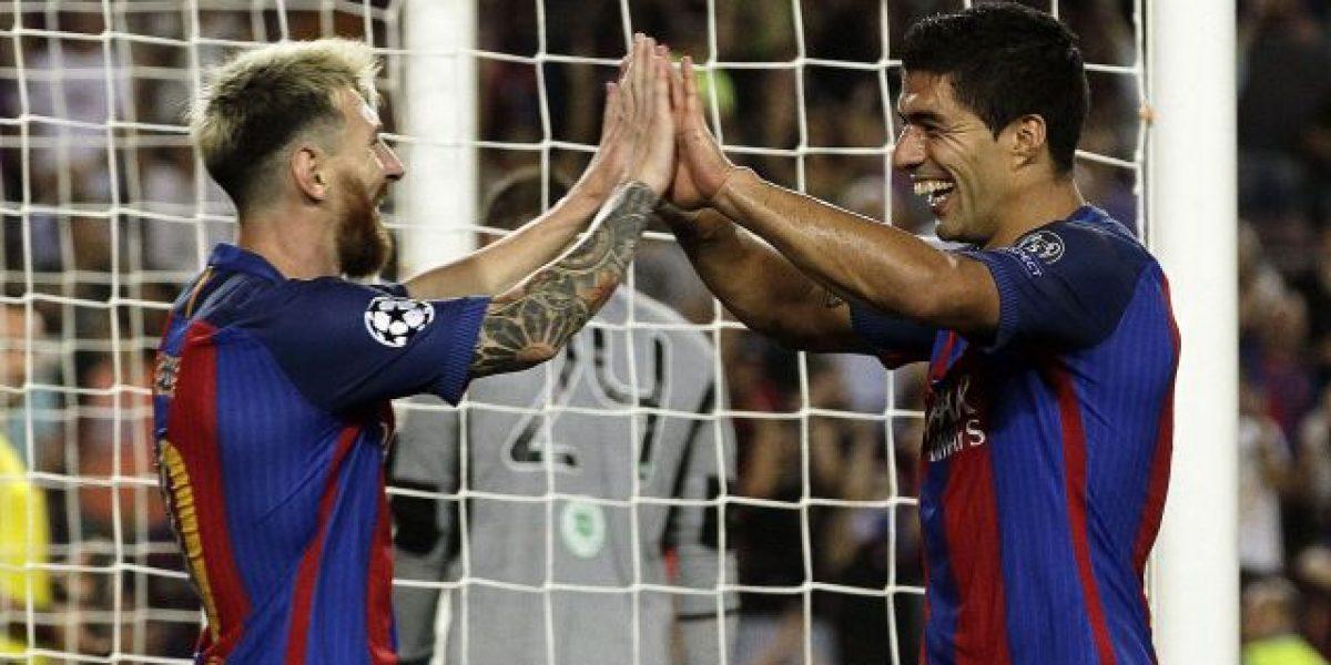 Tridente del Barça se luce en la Liga de Campeones