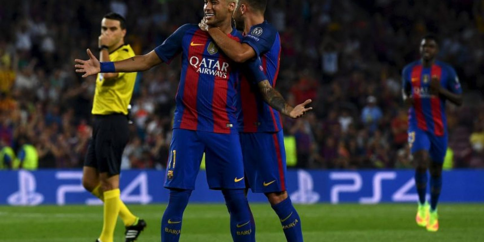 El delantero se despachó un gol y cuatro asistencias en la victoria por 7 a 0 de Barcelona Foto:Getty Images