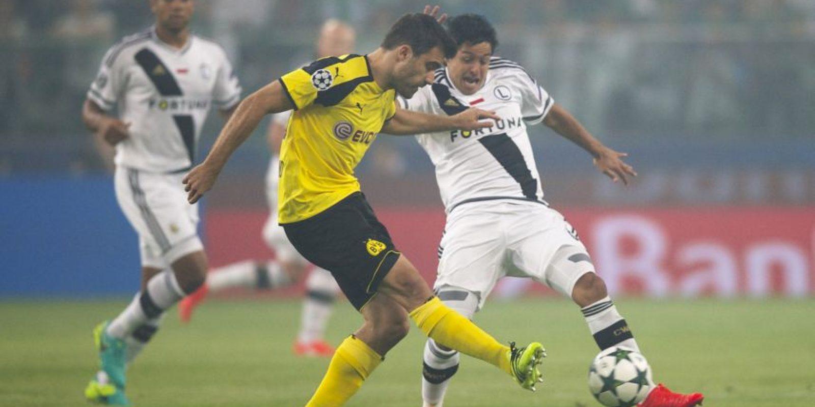 Anotó uno de los goles en la goleada por 6 a o de Borussia Dortmund ante el Legia Foto:Getty Images
