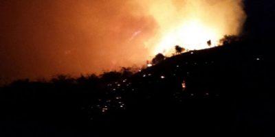 Incendio devora amplia zona del Morro de Montecristi