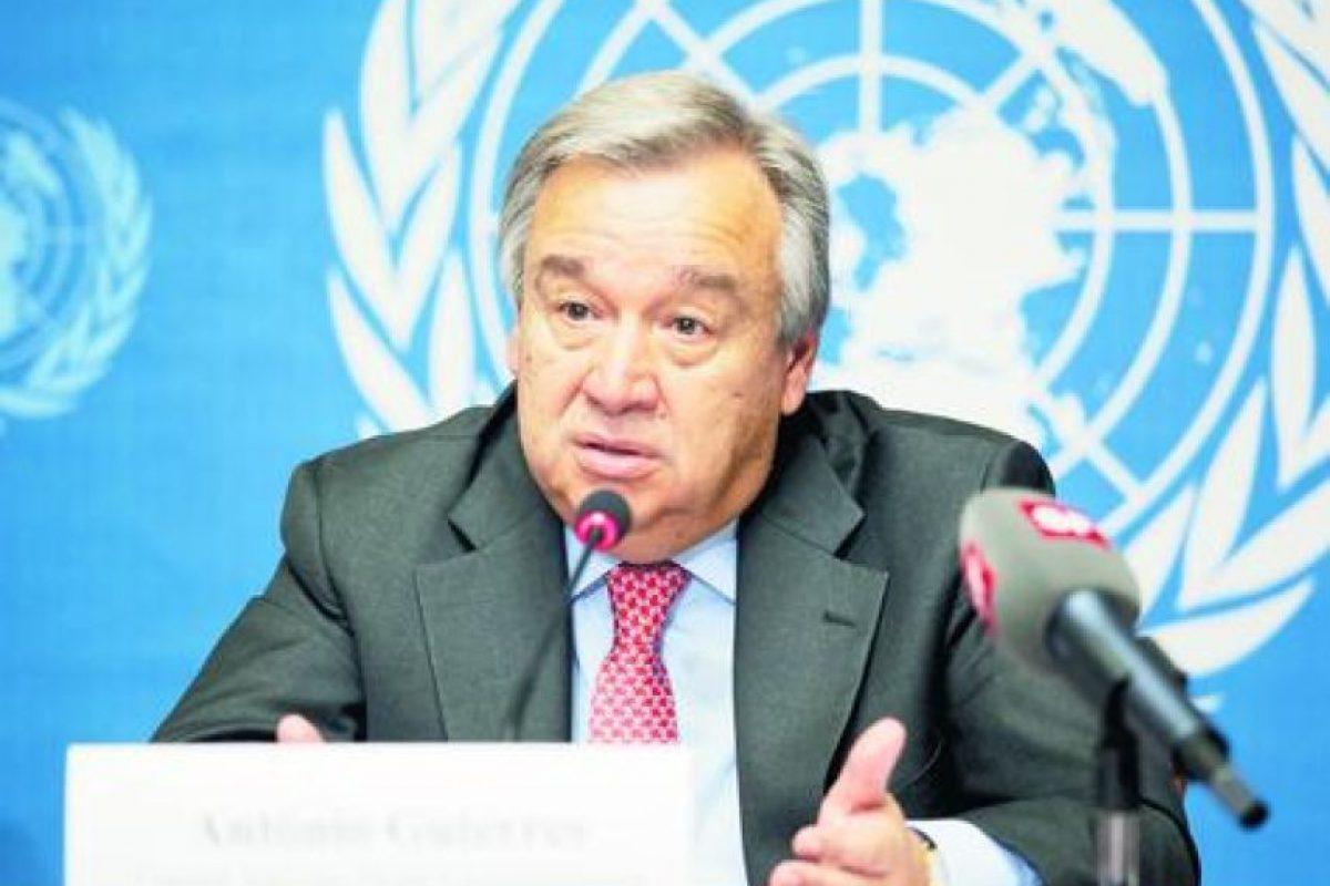 1Sr. António Guterres. Portugal. Se desempeñó como Alto Comisionado de las Naciones Unidas para los Refugiados desde junio 2005 a diciembre 2015 Foto:GETTY