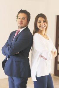 Javier Bonnet y Sossy Vega. Foto:Roberto Guzmán