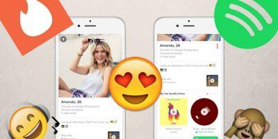 Tinder y Spotify se unen para mejorar compatibilidad de usuarios
