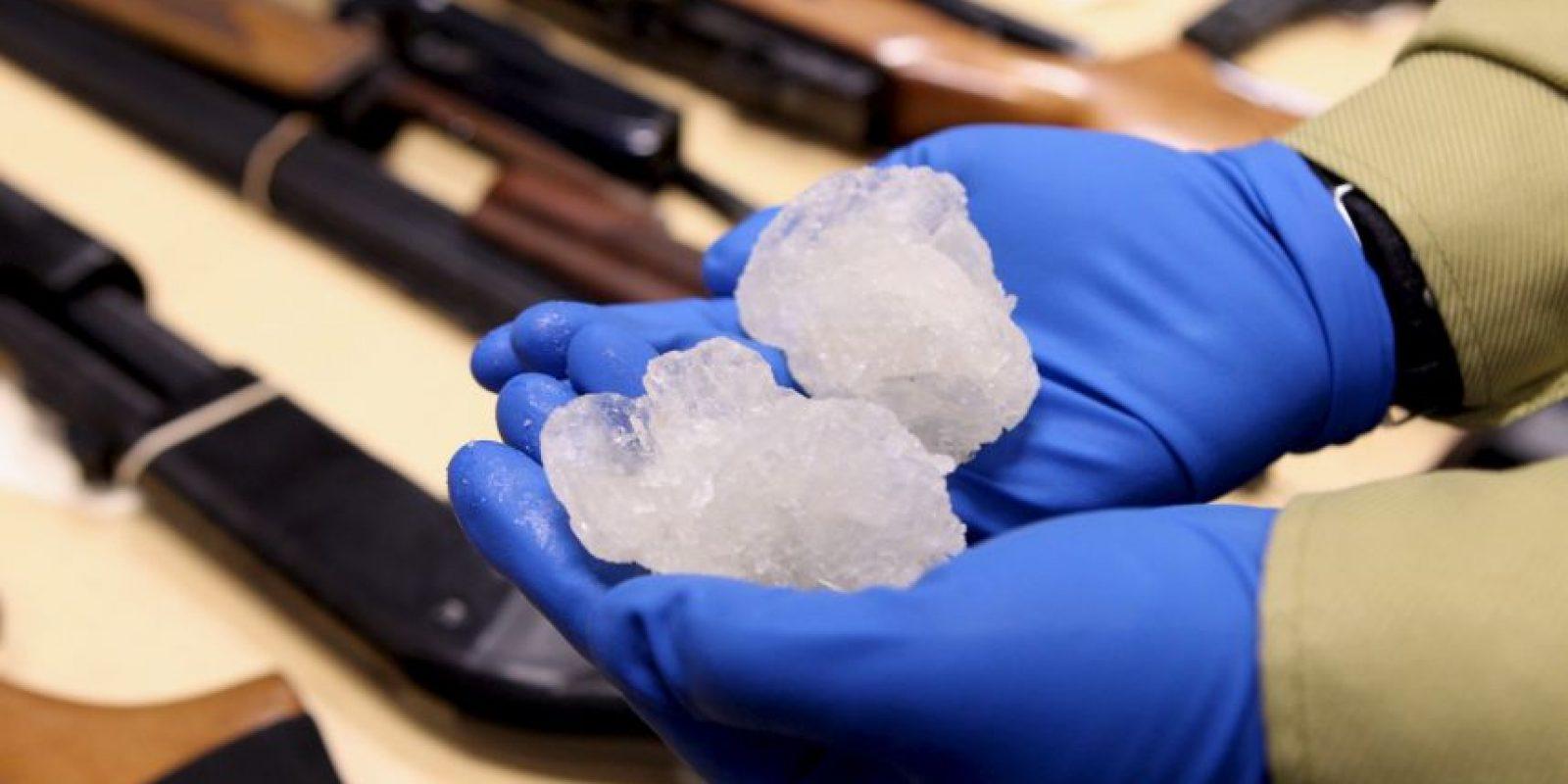 """La metanfetamina se conoce comúnmente como """"anfeta"""", """"meta"""" y """"tiza"""" en español Foto:Getty Images"""