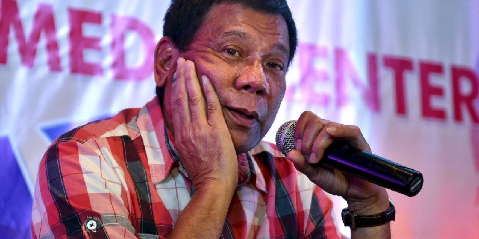 Rodrigo Duterte, presidente de Filipinas, es conocido por su fuerte lenguaje Foto:Getty Images