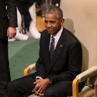El mandatario estadounidense acudió a su última Asamblea General de las Naciones Unidas Foto:Getty Images