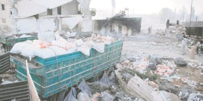 Atacaron un convoy humanitario en Alepo