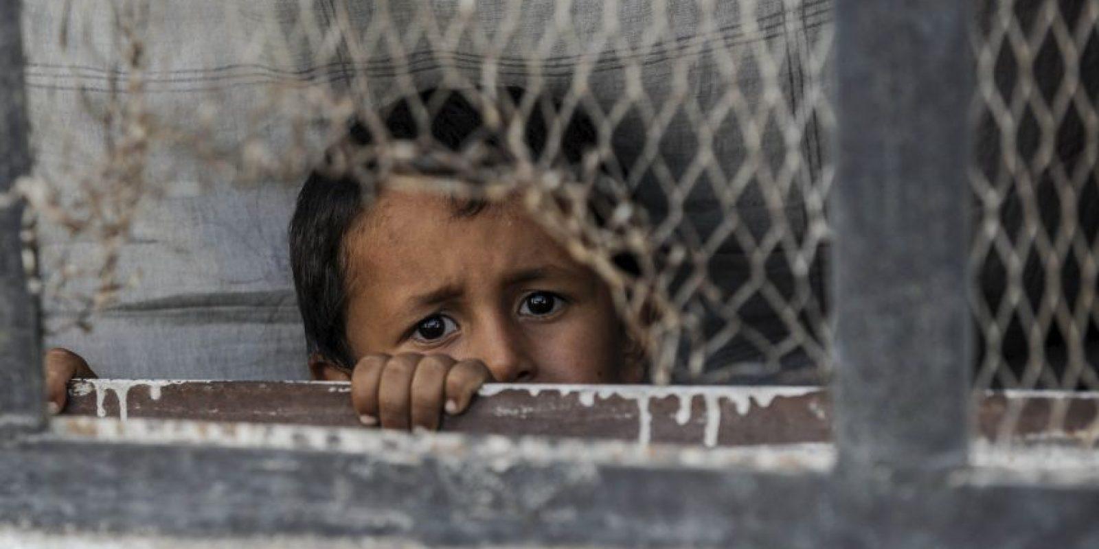 Los niños de Madaya, en Siria, siguen padeciendo la guerra Foto:Getty Images