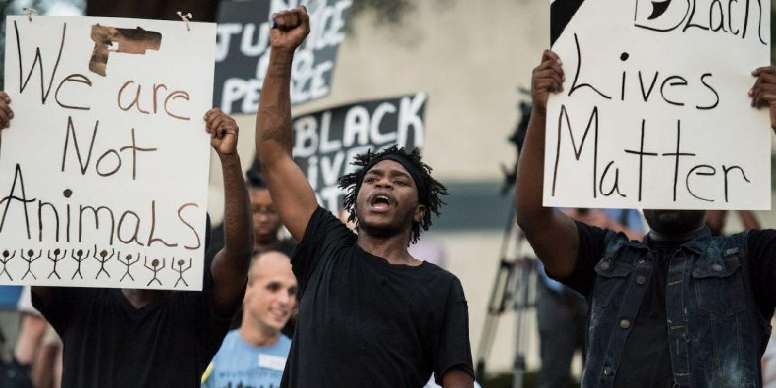 Las escenas que dejó la segunda noche de manifestaciones en Charlotte Foto:Getty Images