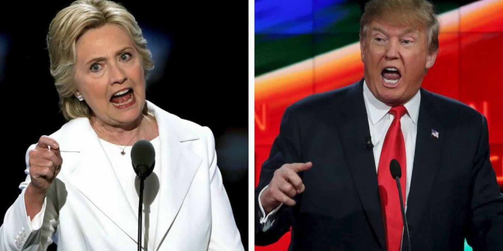 Hillary Clinton y Donald Trump se enfrentarán en una semana en el primer debate presidencial Foto:Getty Images