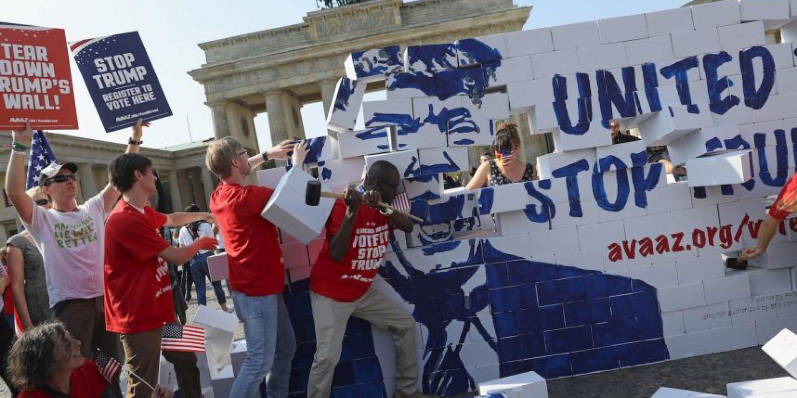 El candidato presidencial pretende construir un muro en la frontera con México Foto:Getty Images