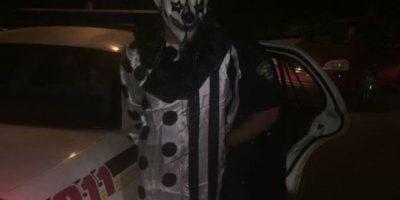 Se vestía como payaso y se ocultaba entre árboles Foto:Middlesboro Police Department