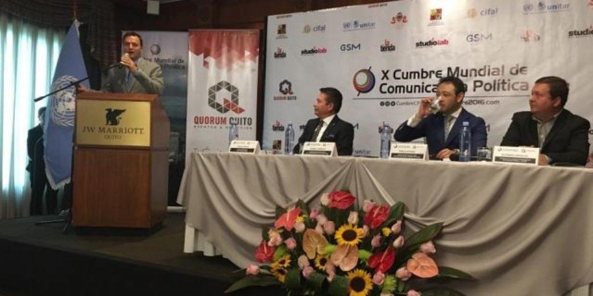 Anuncian la 10° edición de la Cumbre Mundial de Comunicación Política
