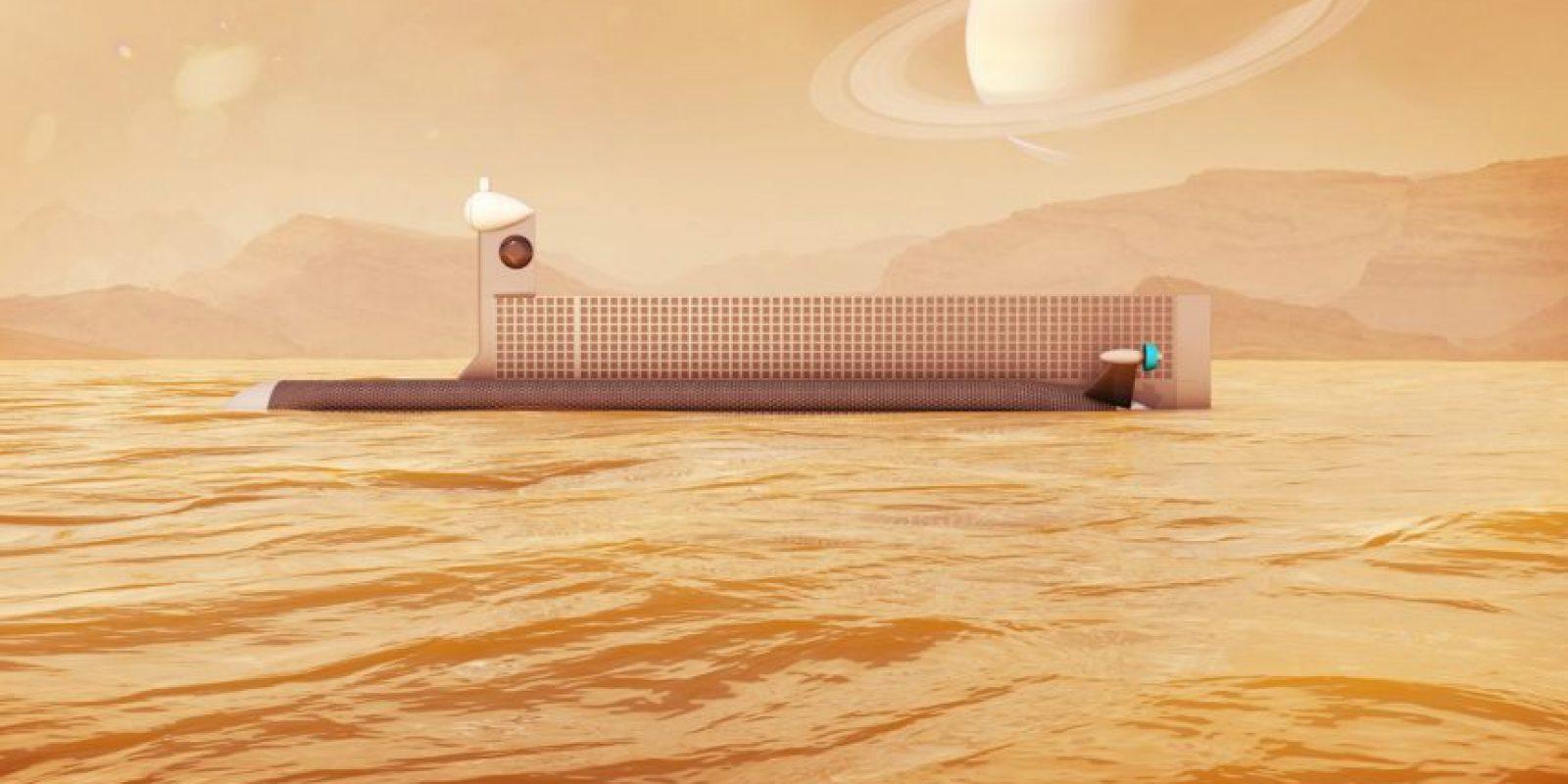 El diseño de la NASA para un submarino robótico capaz de explorar los mares de Titán, la luna de Saturno. / NASA