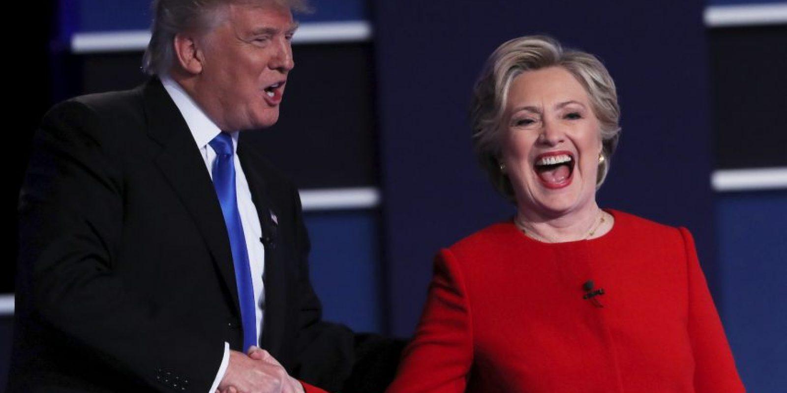 Esta noche se realizó el primer debate entre Hillary Clinton y Donald Trump Foto:Getty Images