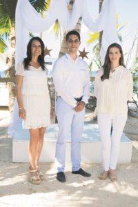 Silvia Ortega, Alex Castellanos y Kasia De Araujo. Foto:Bolívar Orozco
