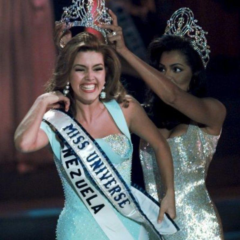 Alicia Machado fue coronada Miss Universo en mayo de 1996 Foto:AP