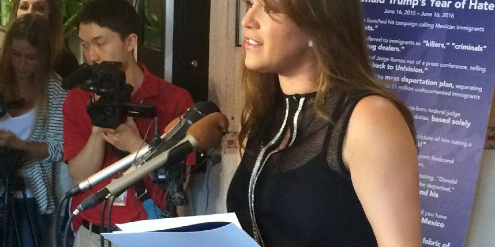 Ella fue humillada por Donald Trump quien la expuso haciendo ejercicio para bajar de peso, frente a reporteros y medios de comunicación Foto:AP