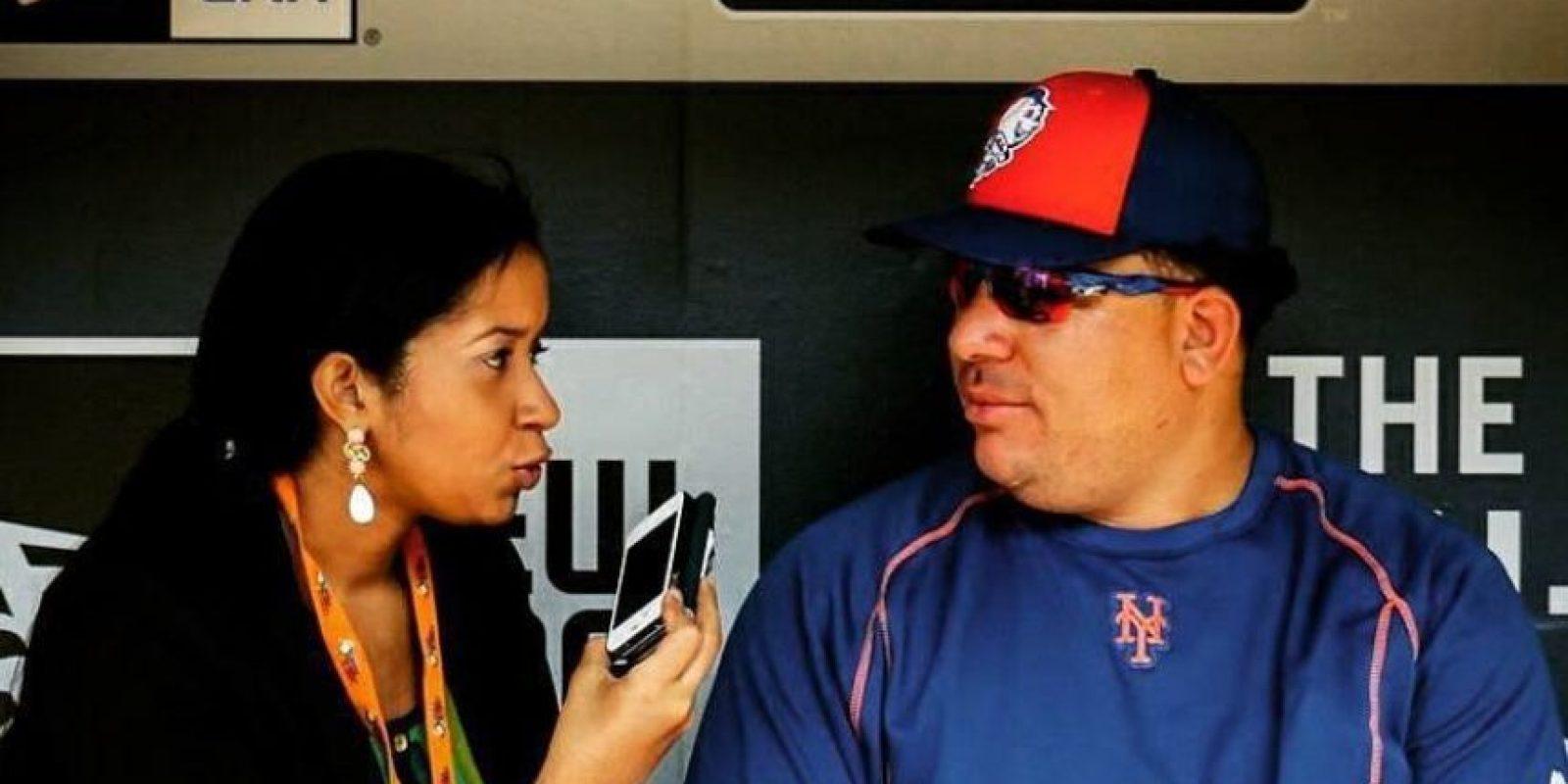Morillo entrevista al lanzador de los Metros de Nueva York Bartolo Colón durante la presente temporada de Grandes Ligas. Foto:Fuente Externa