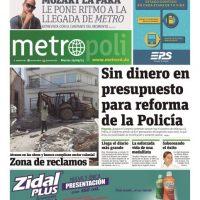 Nuestra primera portada del 29 de septiembre del 2015 con el tema de Policía como noticia principal. Foto:Fuente externa
