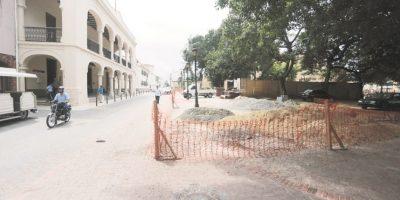 Remozamiento en Ciudad Colonial, aun en proceso