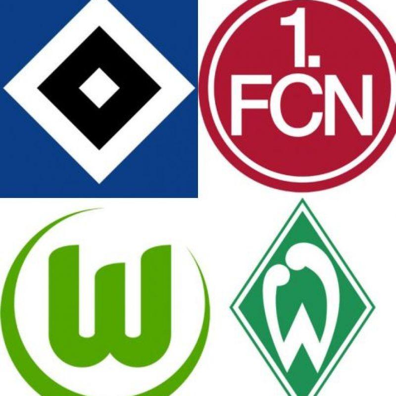 6, 7, 8 y 9.-Werder Bremen, Nuremberg, Wolfsburg y Hamburgo (Alemania) Foto:Reproducción