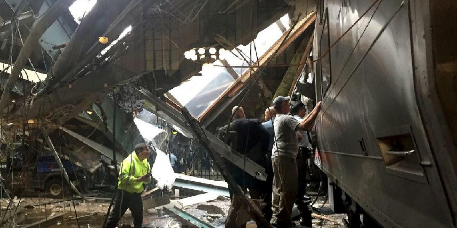 Así quedó la estación Hoboken, en Nueva Jersey Foto:Getty Images