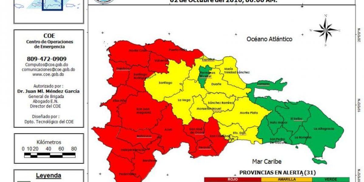 El COE sube a 32 las provincias en alerta: 15 en rojo por huracán Matthew