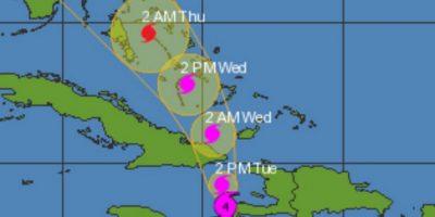 Trayectoria de Matthew, huracán de categoria 4 Foto:Twitter
