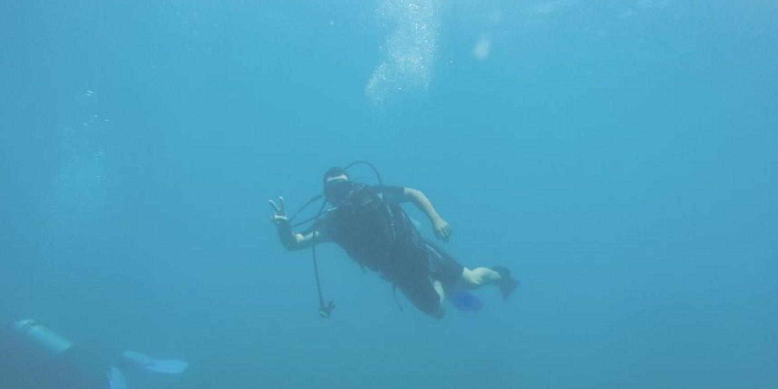 Gaby de Arriba en una aventura acuática en Montecristi. Foto: Freddy Dominguez