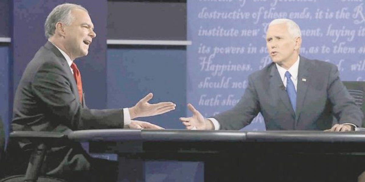 Kaine y Pence traban feroz duelo en debate de vicepresidentes