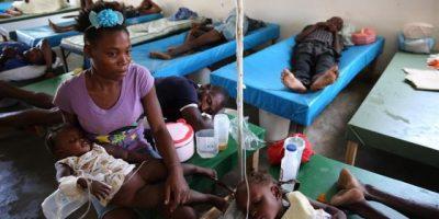 Los enfermos de cólera en Haití reciben atención precaria