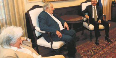 Se reunió con Danilo Medina cuando muchos suponían que no lo haría. Foto:EFE